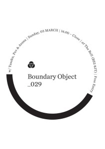 3rd March 2013 / Boundary Object 029